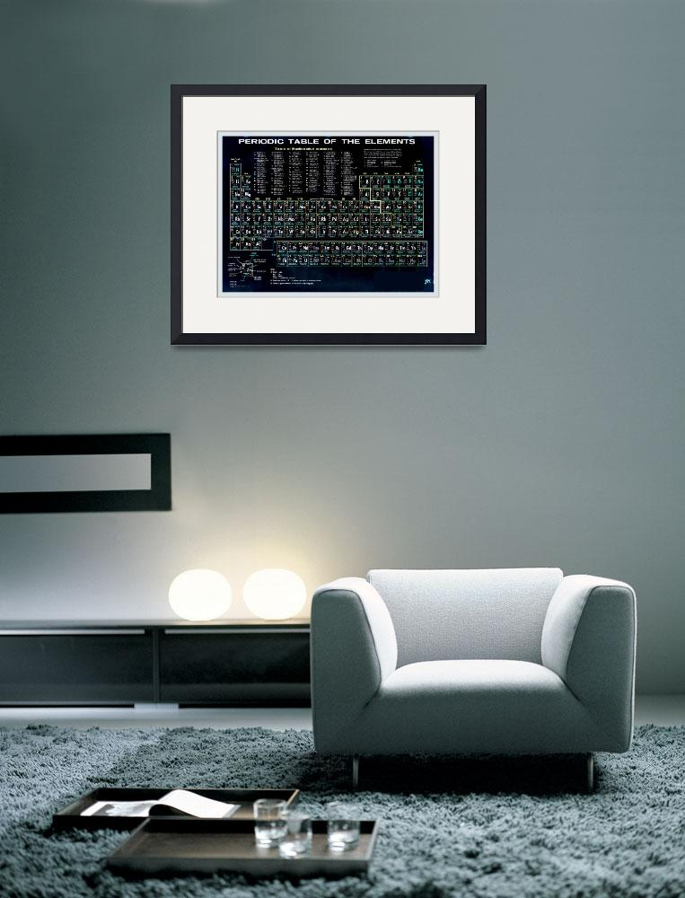 """""""Periodic Table Of The Elements Vintage Chart Black&quot  (2015) by RubinoFineArt"""