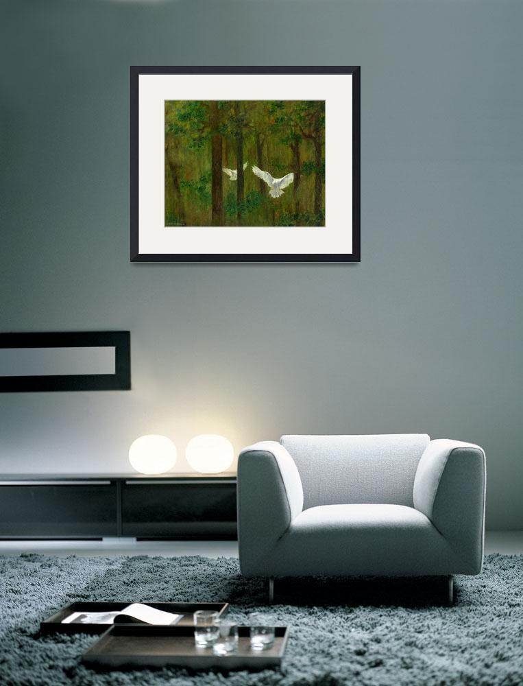 """""""Doves in the Wood&quot  (2005) by FTMcKinstry"""