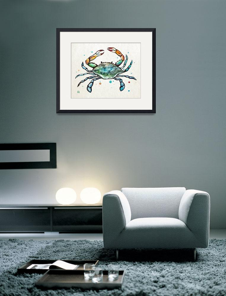 """""""Maryland Blue Crab in Watercolor&quot  (2016) by Littlepig"""