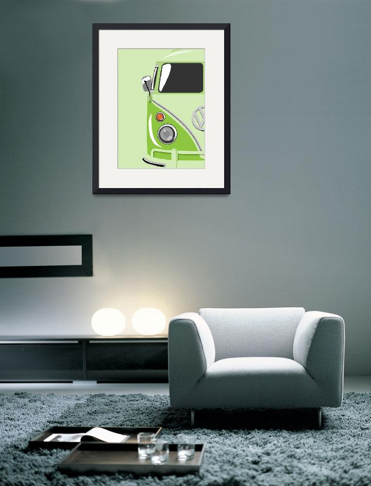 """Camper Green&quot  (2010) by ModernArtPrints"
