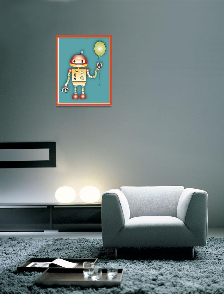 """""""Robot With a Balloon&quot  (2014) by Littlepig"""