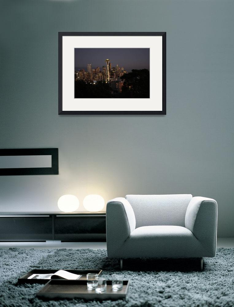 """""""Seattle At Dusk&quot  (2009) by KASFineArtPhotography"""