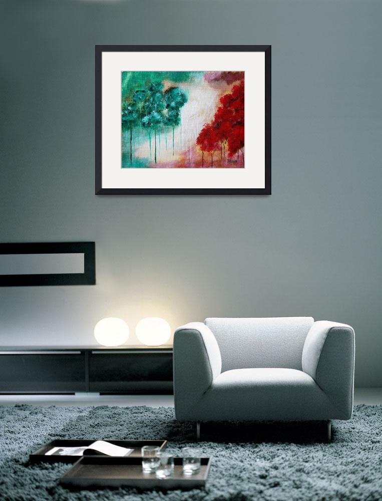 """""""Enchanted From Original Painting Of Skinny Trees&quot  (2008) by Itaya"""