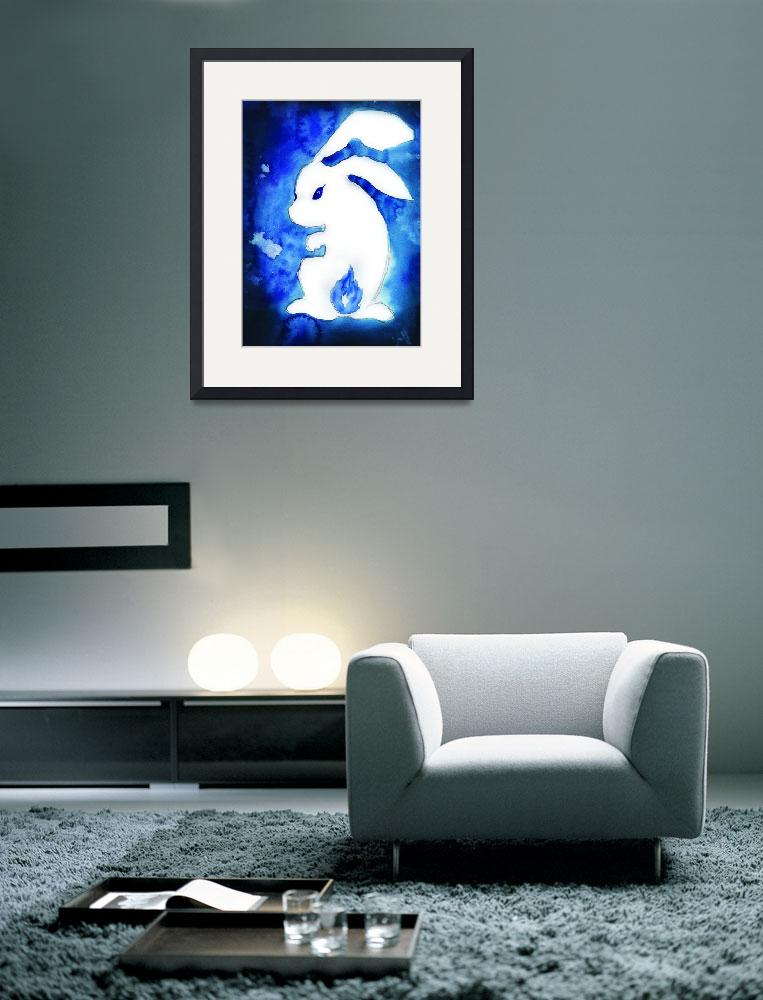 """""""Blue Rabbit Flame Tail&quot  (2011) by francisfung"""