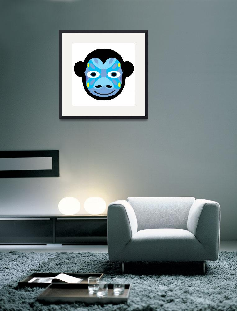 """""""Animal Mask Icon Monkey&quot  (2013) by charker"""