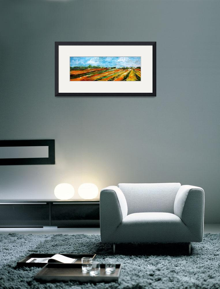 """Fields of Tulips Panoramic by Ginette&quot  (2002) by GinetteCallaway"