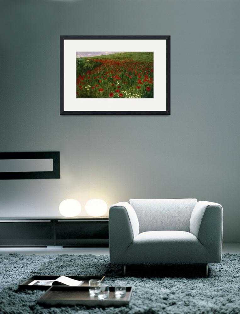 """""""The Poppy Field, 1896&quot  by fineartmasters"""