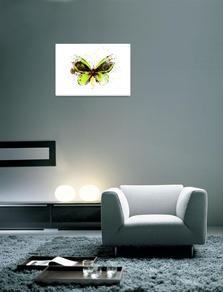 """Forgotten - Green Butterfly - Art - Digital Print&quot  (2013) by artificialhappiness"