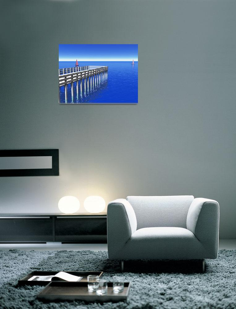 """Caribbean Pier""  (2010) by digitalmedia"
