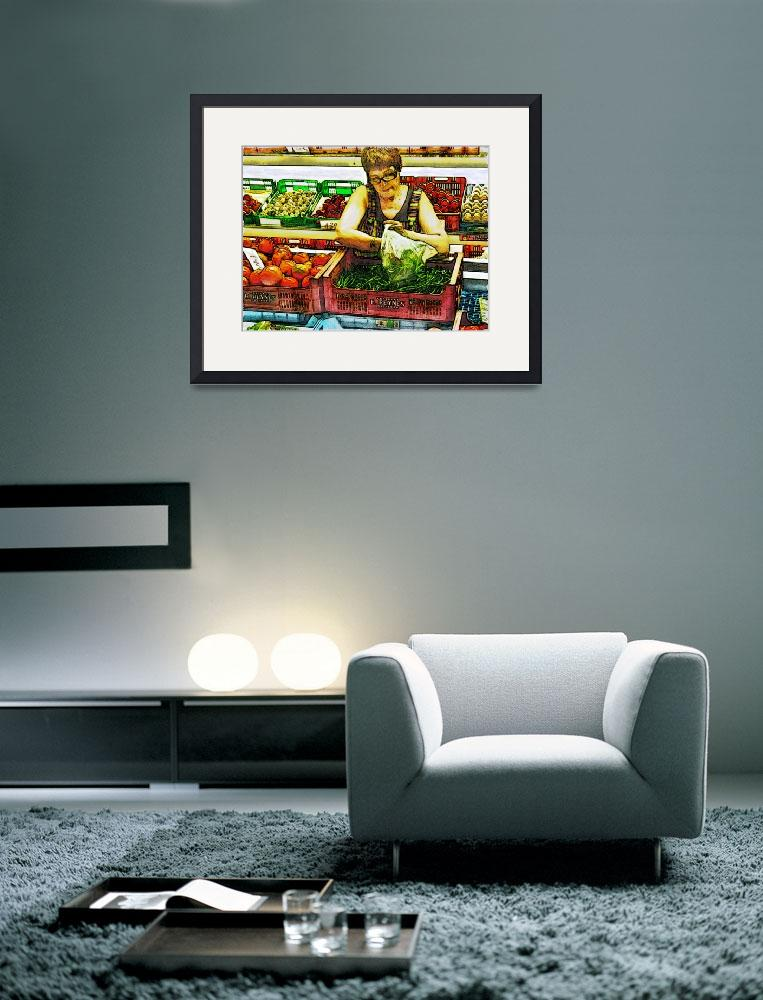 """""""Market place - Vegetable Stand&quot  (2009) by deedemigjorn"""