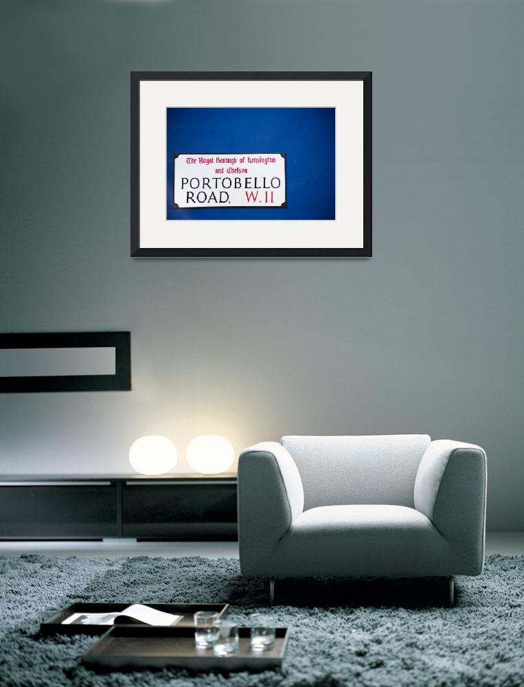 """""""Portobello Road sign on blue wall&quot  (2008) by cpc"""