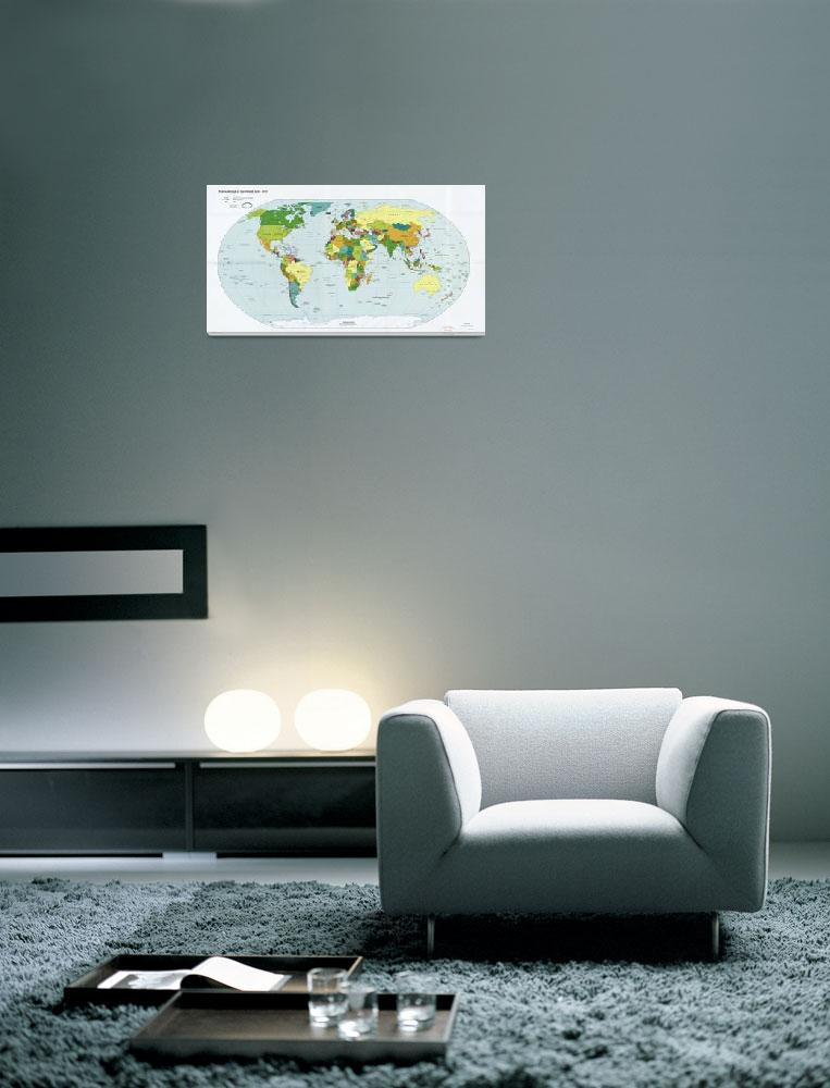 """""""Political Map of the World (June 2010)&quot  (2010) by ArtHistory"""