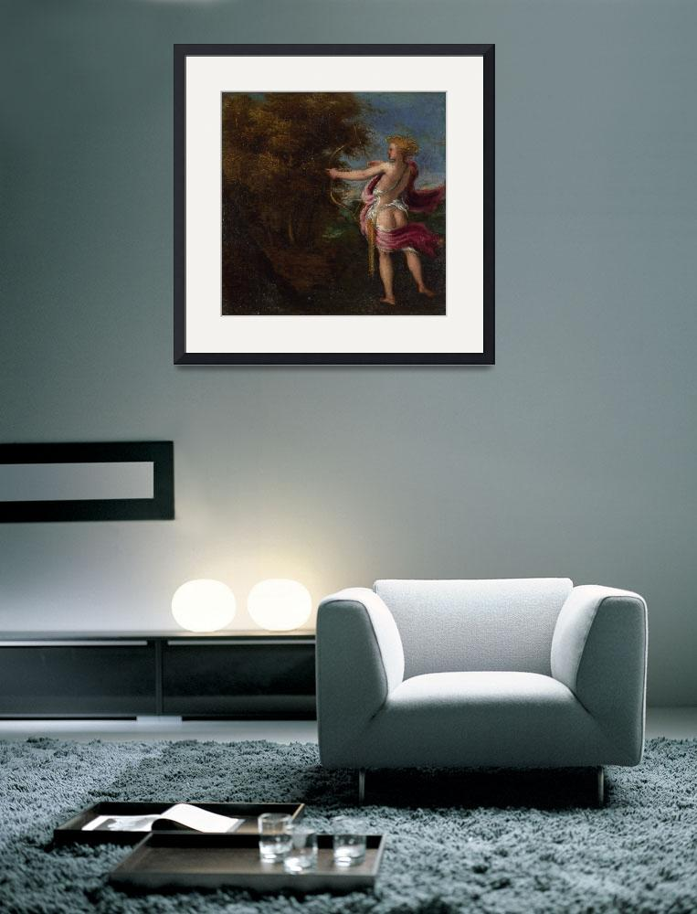 """Andrea Schiavone - Arcas Hunting""  by ArtistiquePrints"