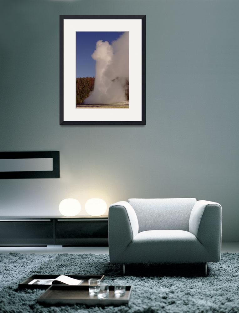 """""""Old Faithful in Yellowstone National Park&quot  by RetroImagesArchive"""