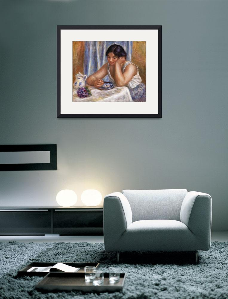 """""""Cup of Chocolate by Renoir""""  by FineArtClassics"""