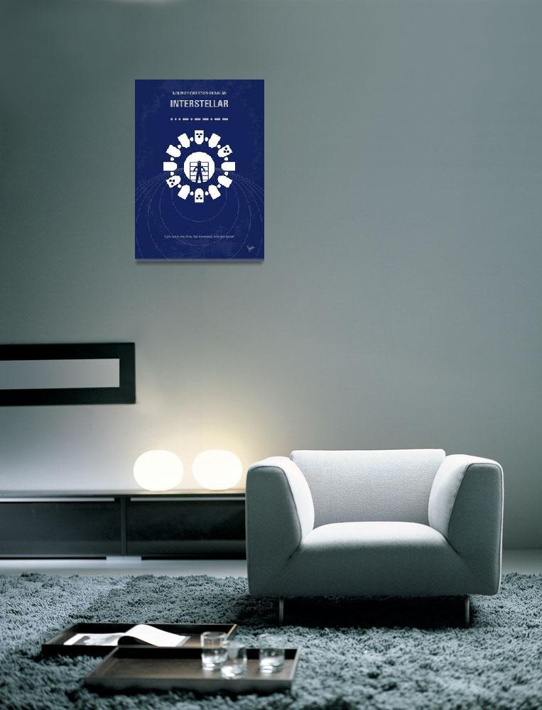 """""""No532 My Interstellar minimal movie poster""""  by Chungkong"""