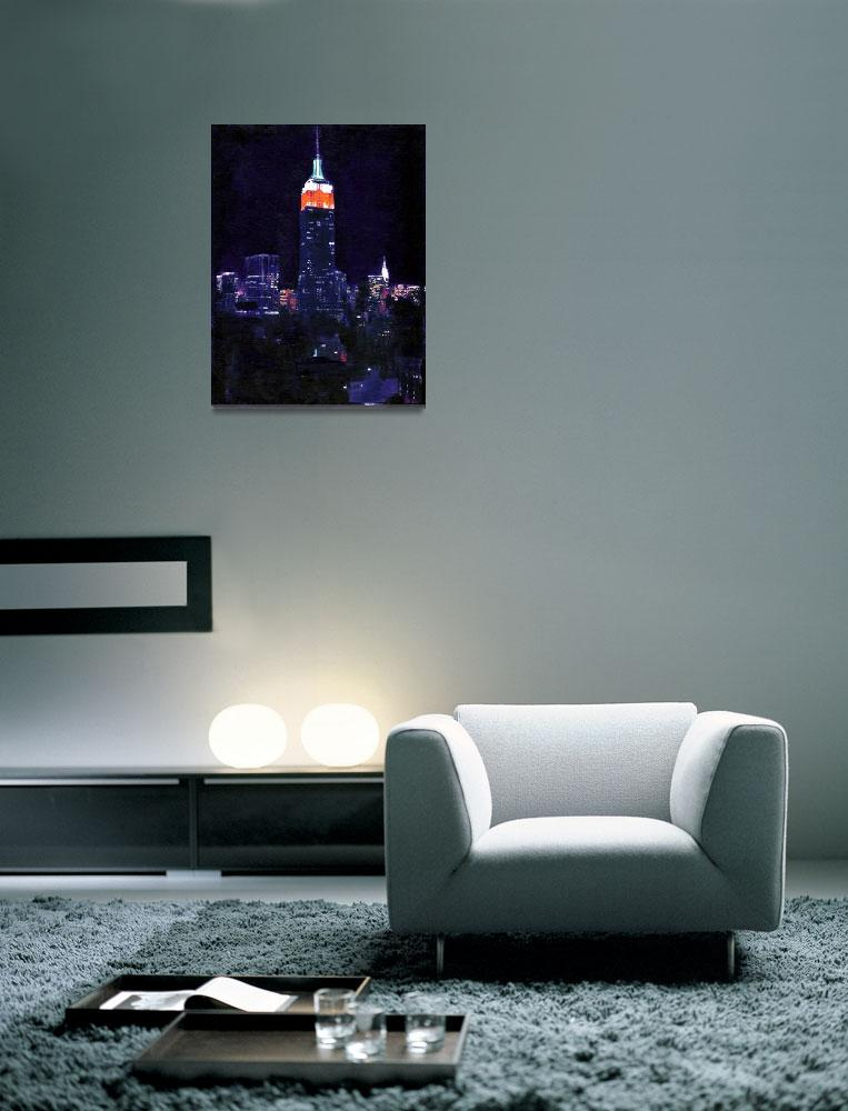 """""""Empire State Building At Night""""  (2007) by RDRiccoboni"""
