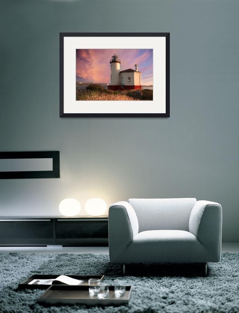 """THE COQUILLE RIVER LIGHTHOUSE SUNSET""  by pbk"