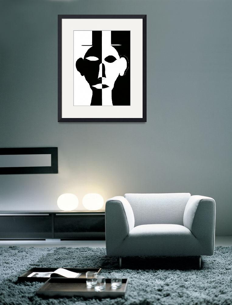 """""""Black and white face&quot  (2012) by ArtNaive"""