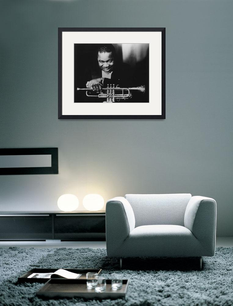 """""""Louis Armstrong holding trumpet""""  by RetroImagesArchive"""