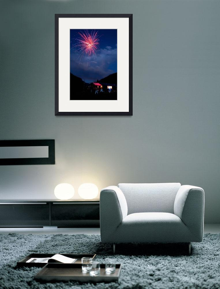 """""""Fireworks over the Yacht Club&quot  (2010) by lightningman"""