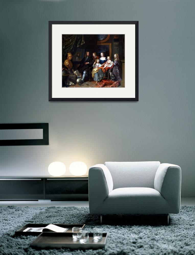 """Charles Le Brun Everhard Jabach and His Family&quot  by PDGraphics"