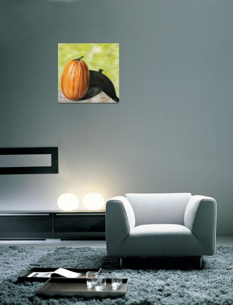 """Still Life Single Pumpkin""  (2011) by rustydoubleohseven"