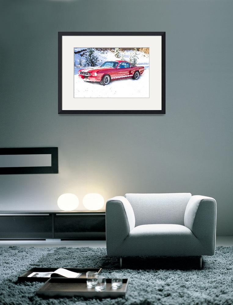 """""""Red Ford Mustang Shelby 1966""""  (2011) by lightningman"""