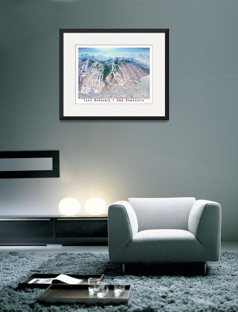 """""""Loon Mountain Resort, New Hampshire&quot  (2011) by jamesniehuesmaps"""