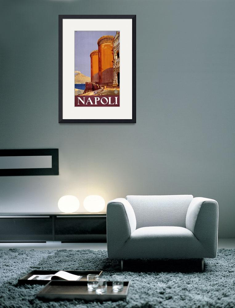 """""""Vintage Naples Italy Castle Travel""""  by PDGraphics"""