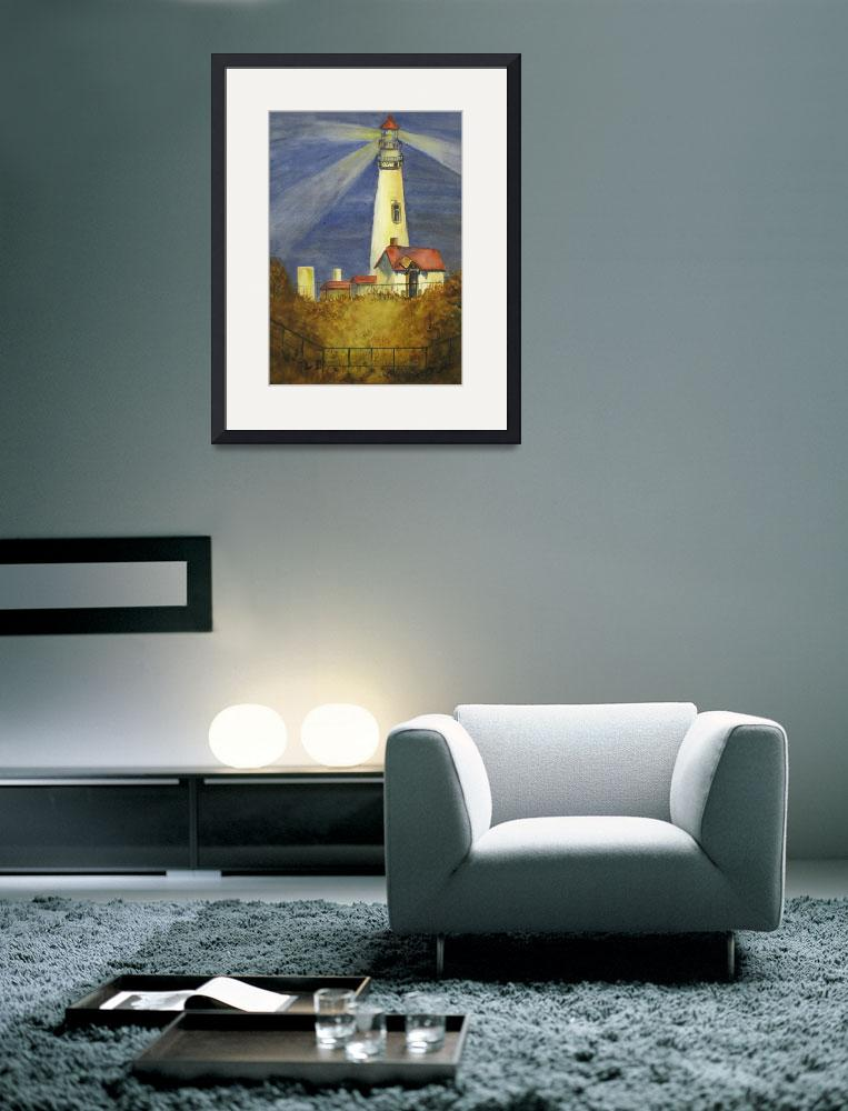 """""""Lighthouse On Oregon Coast by Sonya P.&quot  (2000) by flowerswithfeelings"""