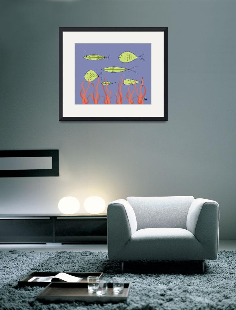 """""""Mid Century Fish&quot  (2012) by DMibus"""