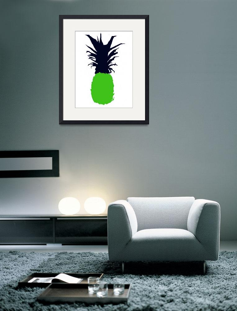 """""""Pineapple green navy blue white (c)&quot  (2014) by edmarion"""
