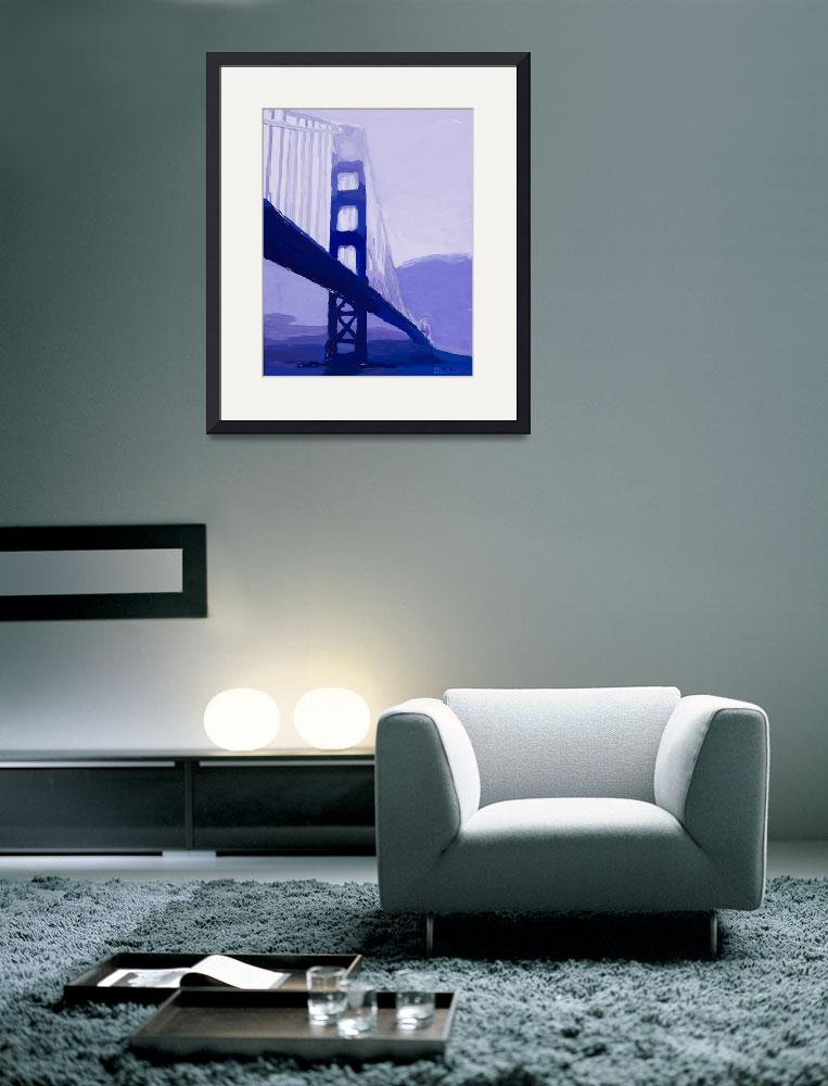 """Tanzanite Gate Bridge&quot  (2013) by russwagnerart"