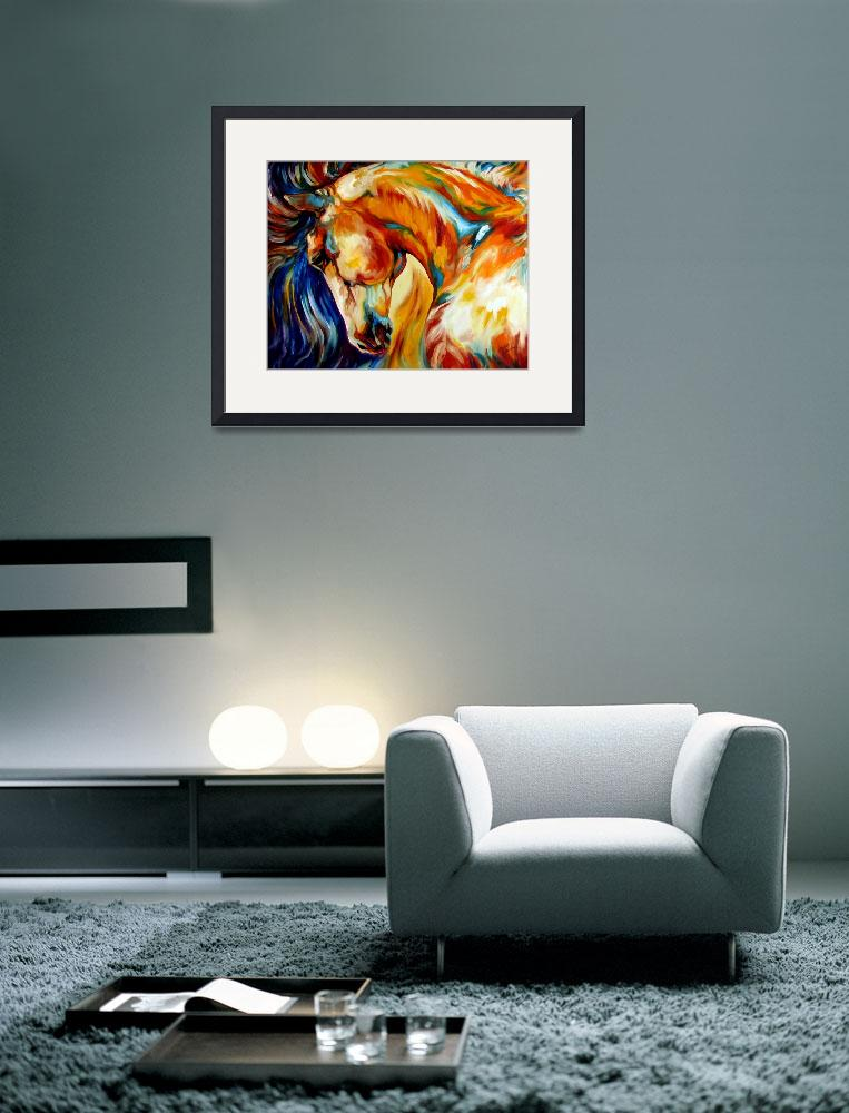 """""""STALLION&quot  by MBaldwinFineArt2006"""
