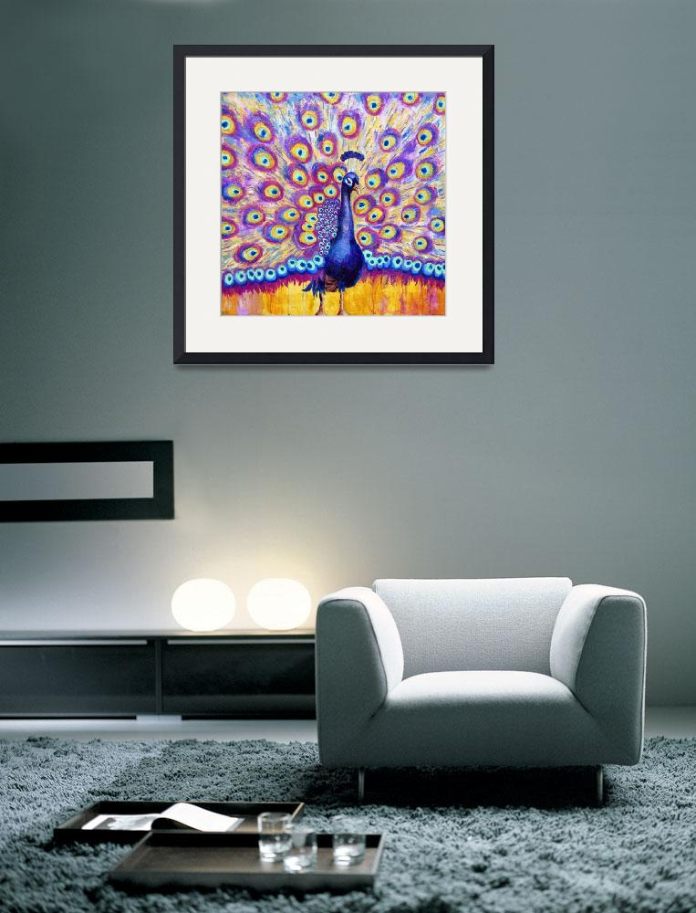 """""""Radiant Peacock, purple radiant orchid painting""""  (2014) by schulmanart"""