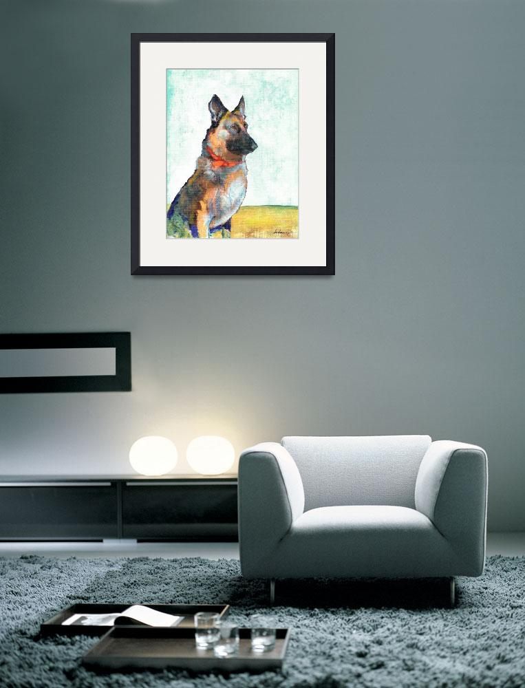 """German Shepherd Portrait by Riccoboni""  (2010) by RDRiccoboni"