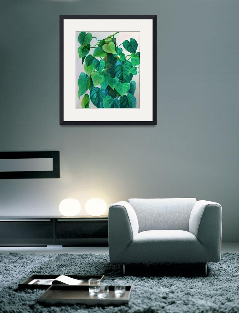 """Hearts of Philodendron Painting&quot  (1976) by KsWorldArt"