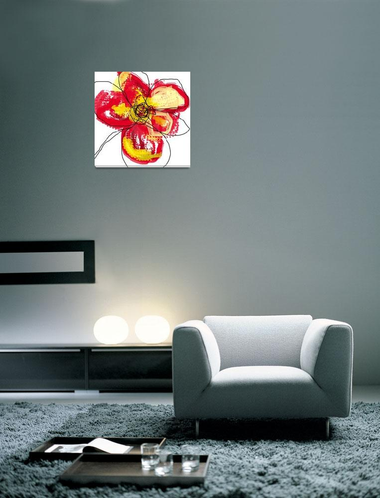 """""""Red Butterfly Flower""""  (2008) by TuesdayMoon"""