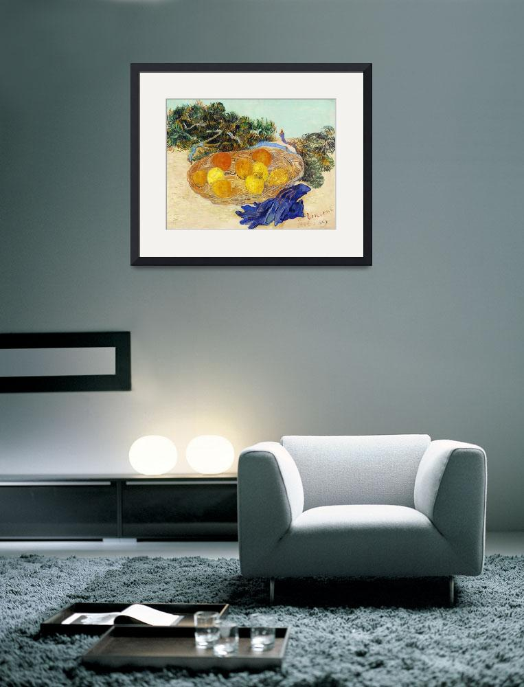 """""""Oranges and Lemons with Blue Gloves by Van Gogh""""  by FineArtClassics"""