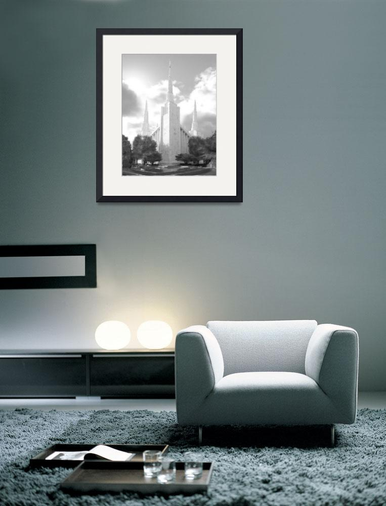 """""""Portland Temple Large-16x20-BW&quot  by TerrySpringer"""