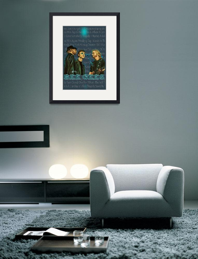 """Bee Gees Poster&quot  (2012) by paintingsbygretzky"
