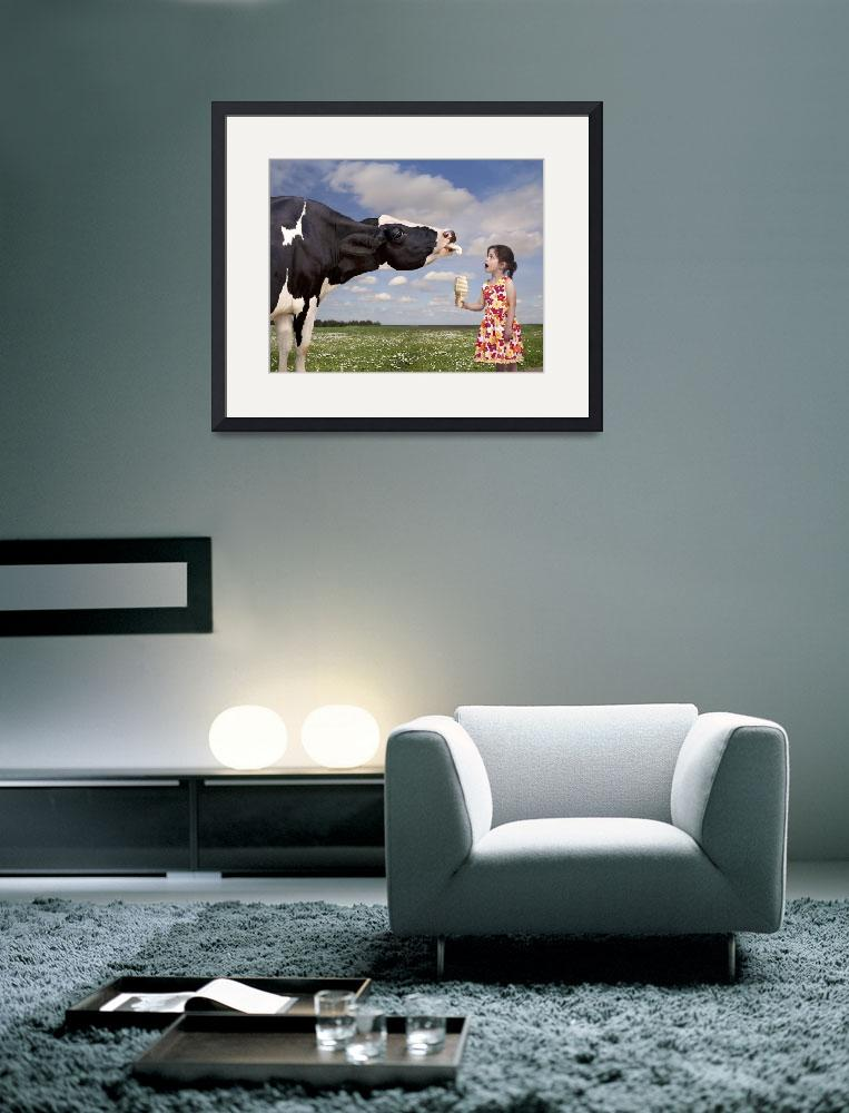 """""""Cow Licking a Girl"""