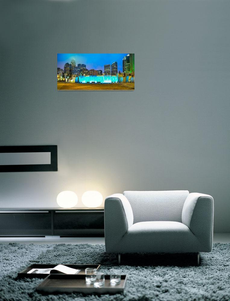 """charlotte city skyline""  by digidreamgrafix"