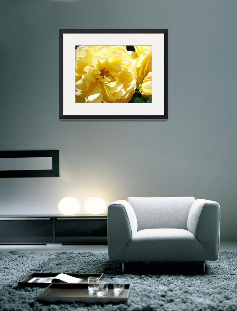 """""""Yellow Floral Tulip Flowers Spring art&quot  (2011) by BasleeTroutman"""