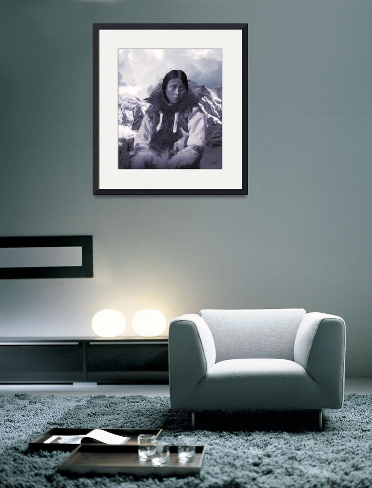 """""""Portrait of an Inuit Woman&quot  (2011) by spadecaller"""