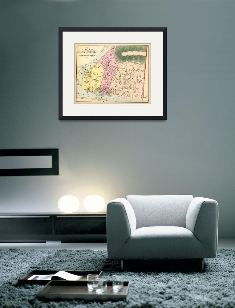 """""""Vintage Map of Charleston West Virginia (1873)&quot  by Alleycatshirts"""