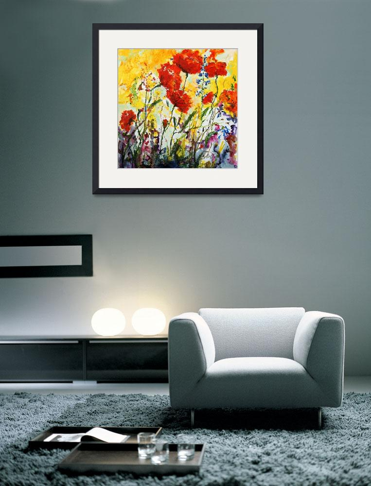 """""""Poppies Provence Colorful Flowers&quot  (2011) by GinetteCallaway"""
