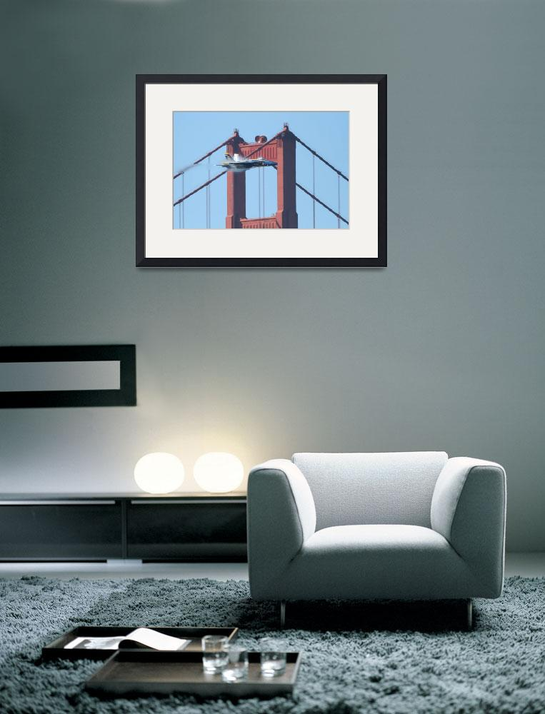 """""""Blue Angels Crossing the Golden Gate Bridge 5&quot  (2010) by wingsdomain"""