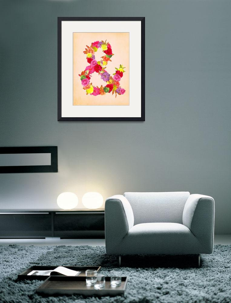 """""""Flower Ampersand&quot  (2012) by sweetblue"""